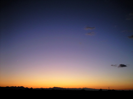 夜空 月・金星木星