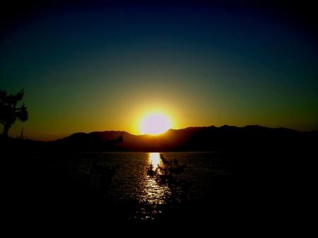 宮島からの夕日.JPG